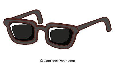 Pair of sunglasses on white background