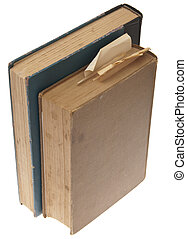Pair of Vintage Books Isolated on White with a Clipping Path.