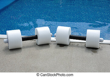 Pair of Water Aerobics Dumbbells