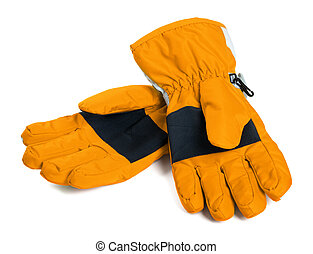 Pair of winter ski gloves