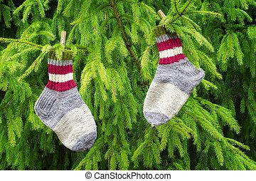 Pair of woolen socks