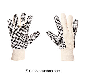 Pair of working gloves.