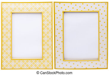 Pair of Yellow Picture Frames