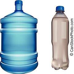 pair water bottles