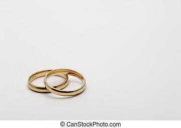 paire, anneau, mariage