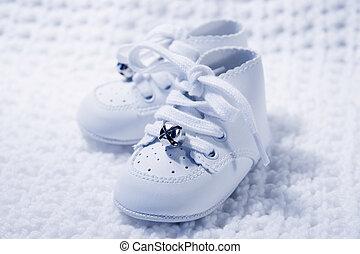paire, bébé, 2, chaussures