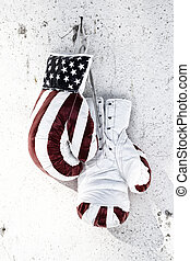 Paire, boxe, gants