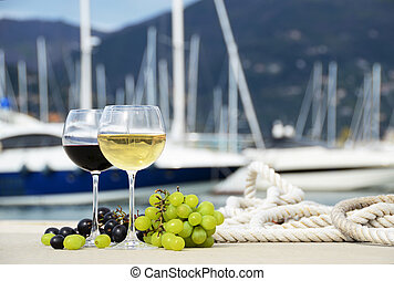 paire, verres vin