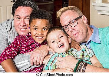 pais, crianças, homossexual