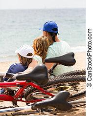 pais, e, filho, com, bicycles