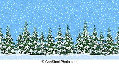 paisagem, árvores natal