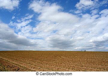 paisagem, arado