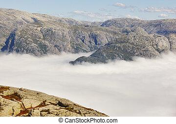 paisagem., area., route., norueguês, fjord, aventura, ...