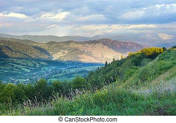 paisagem, de, montanhas