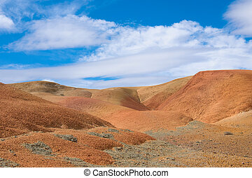 paisagem deserto, vermelho