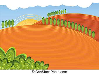 paisagem, ilustração