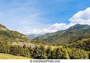 paisagem, montanha,  friuli, Itália, Alpes