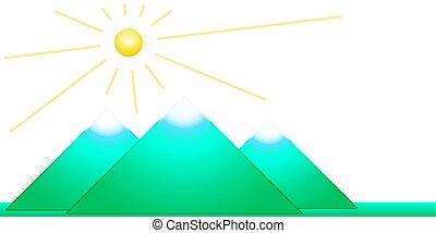 paisagem montanha, ilustração