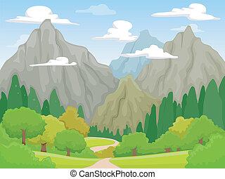 paisagem, montanha