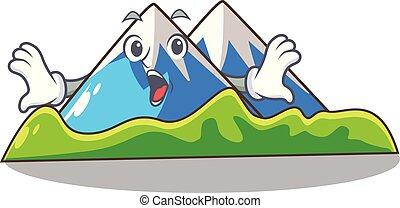 paisagem, montanha, isolado, surpreendido, mascote