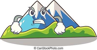 paisagem, montanha, zangado, isolado, mascote