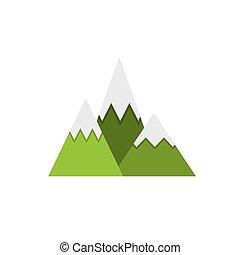 paisagem, montanhas, desenho