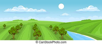 paisagem rural, verão