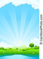 paisagem verde