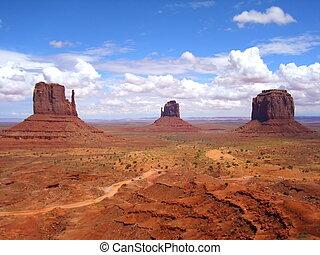 paisagem, vista, de, monumento, valley., utah, eua