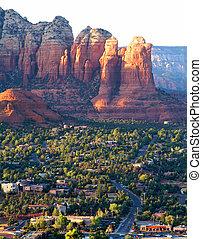 paisaje, arizona, sedona, (usa)