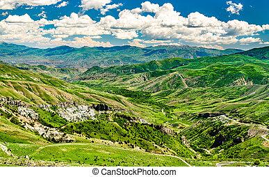 paisaje, armenia, pase, caucasia, vardenyats