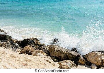 paisaje, atlántico, espumoso, turquesa, water., rocly,...