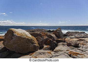 paisaje., australia, bingie, (near, morua), litoral, nsw.