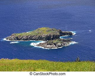 paisaje, de, isla de pascua