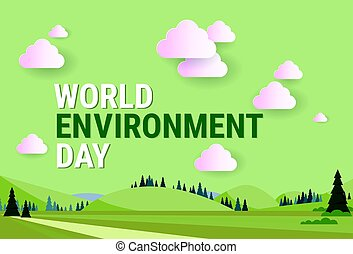 paisaje de la naturaleza, mundo, ambiente, día, ecología, protección, feriado, tarjeta de felicitación