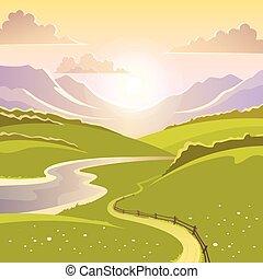 paisaje de montaña, plano de fondo