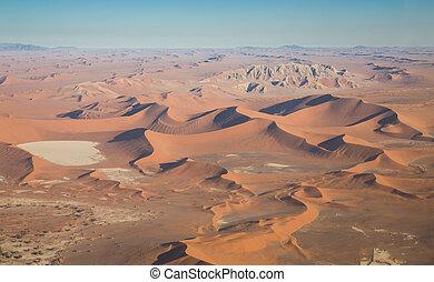 paisaje del desierto, (aerial, view)