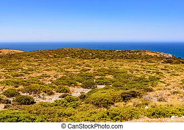 paisaje, el, orilla, en, buggerru, especialmente, planu,...