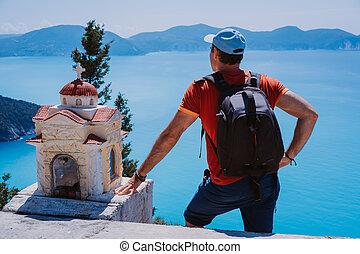 paisaje., el permanecer, turista, helénico, asombroso,...