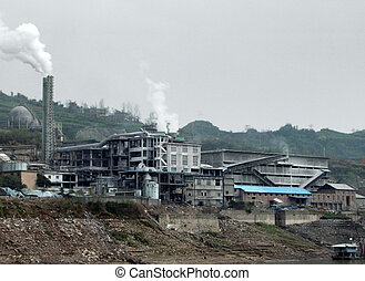 paisaje, industrial, china