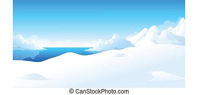 paisaje, invierno