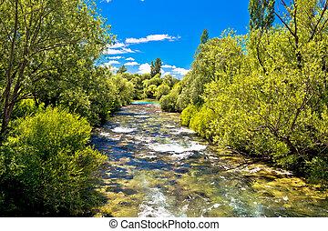 paisaje, krcic, green river, corriente