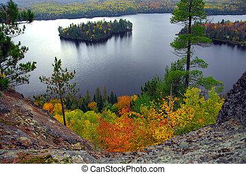 paisaje, lago