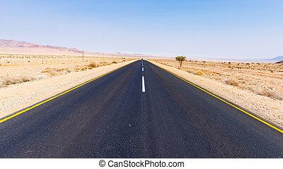 paisaje, luderitz, viaje, desierto, aus, áfrica., cruce,...