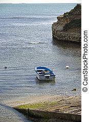 paisaje, mar, barco
