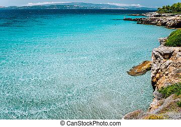 paisaje, paisaje., turquesa, water., mar, isla, cristal,...