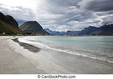 paisaje, rainclouds, noruega