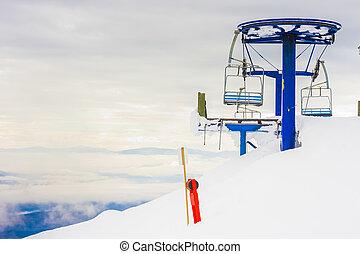 paisaje, recurso, esquí