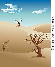 paisaje, sabana, africano