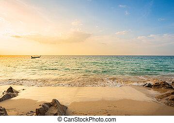 paisaje, thailand., vista, punto, phuket, playa, provincia, ...